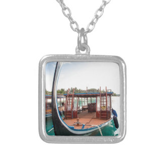 Snorkelling Boat Silver Plated Necklace