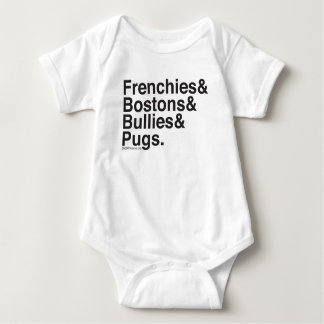 SNORT Helvetica baby one-sie Baby Bodysuit