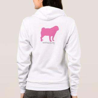 SNORT Pink Pug Hoodie