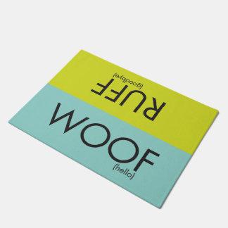 SNORT woof/ruff doormat