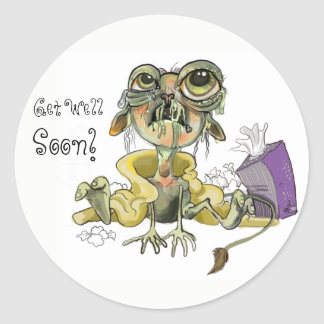 Snot Goblin Get Well Soon! Round Sticker