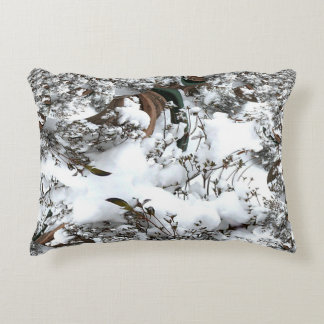 Snow Abstract Accent Pillow