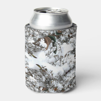 Snow Abstract Can Cooler