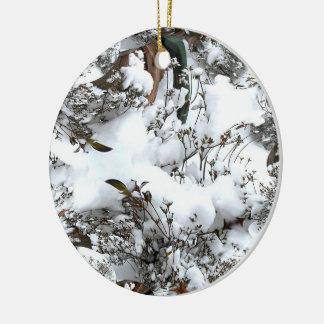Snow Abstract Ceramic Ornament