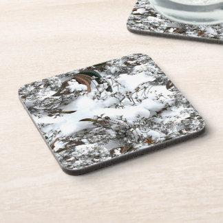 Snow Abstract Coaster