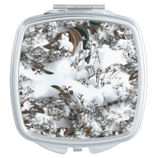 Snow Abstract Compact Mirror