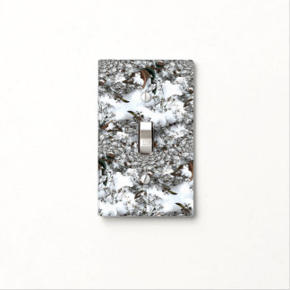 Snow Abstract Light Switch Cover
