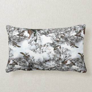 Snow Abstract Lumbar Pillow