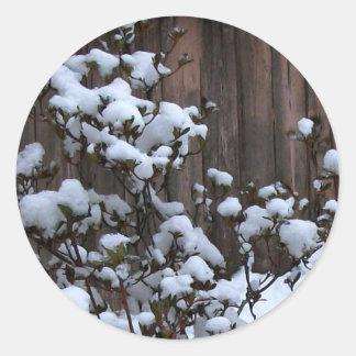 Snow Abstract Merchandise Round Sticker