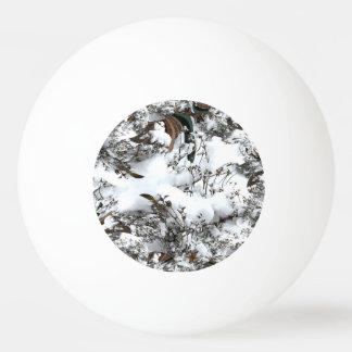 Snow Abstract Ping Pong Ball