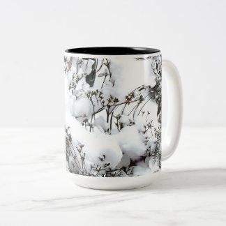 Snow Abstract Two-Tone Coffee Mug