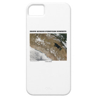 Snow Across Peruvian Summits (Picture Earth) iPhone 5 Covers