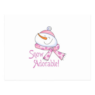 Snow Adorable Post Card