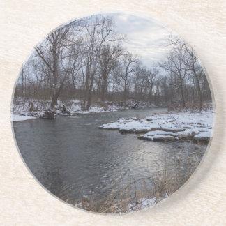 Snow Along James River Coaster