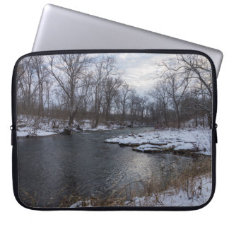 Snow Along James River Computer Sleeve
