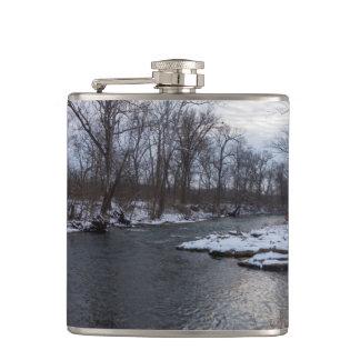 Snow Along James River Flasks
