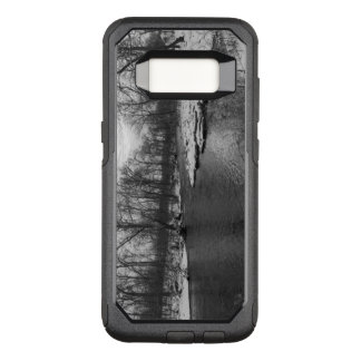 Snow Along James River Grayscale OtterBox Commuter Samsung Galaxy S8 Case