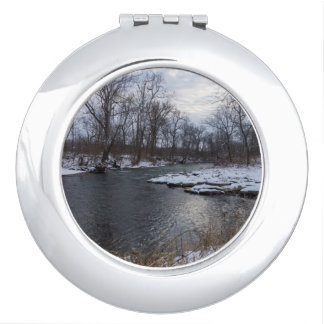 Snow Along James River Makeup Mirrors