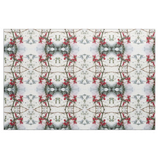 SNOW AND BERRIES fabric