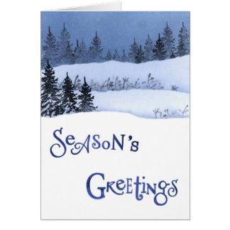 Snow and Christmas Tree Card