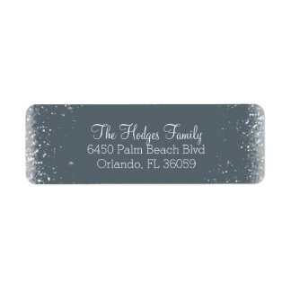 Snow and Frost Return Address Label