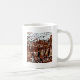 snow and ice in rock formationsf coffee mug