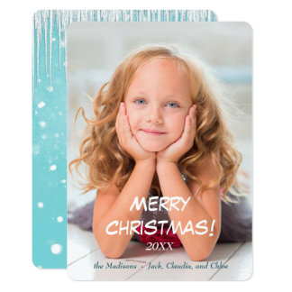 Snow and Icicle Photo Template Christmas