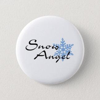 Snow Angel 2 Inch Round Button