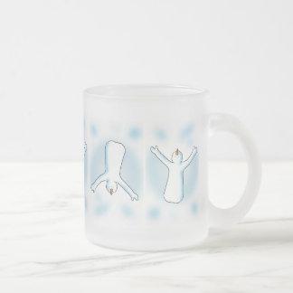 Snow Angel Frosted Glass Coffee Mug