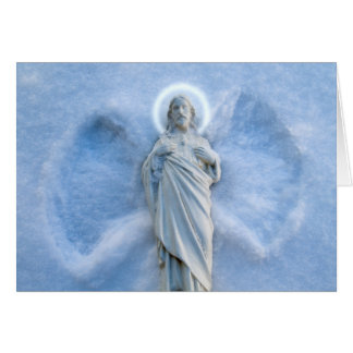 Snow Angel Jesus Card