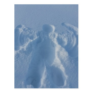 Snow angel postcard