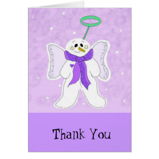 Snow Angel Thank You Card