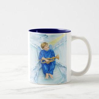 Snow Angel Two-Tone Coffee Mug