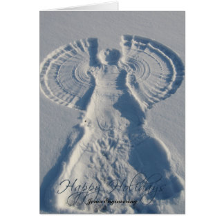 Snow Angel Wishes You Happy Holidays Card
