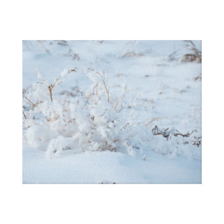 snow art canvas print