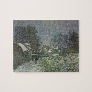 Snow at Argenteuil by Claude Monet, Vintage Art Jigsaw Puzzle