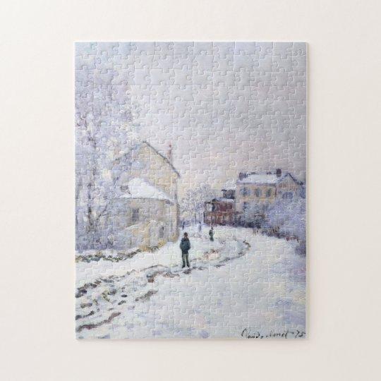 Snow at Argenteuil Monet Fine Art Jigsaw Puzzle