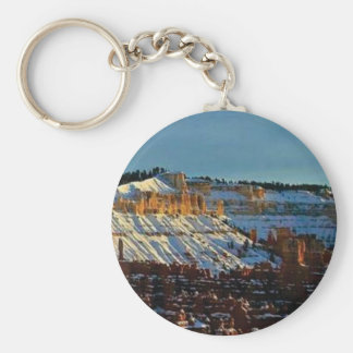 snow at bryce keychain