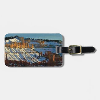 snow at bryce luggage tag
