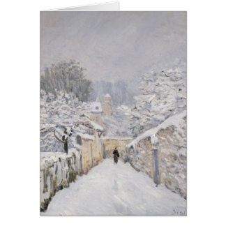 Snow at Louveciennes, 1878 Card