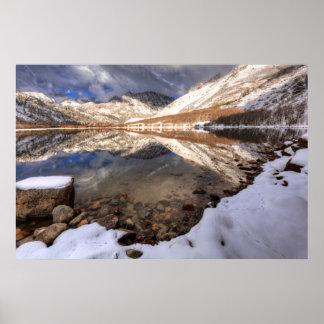 Snow at North Lake, California Poster