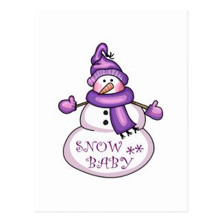 SNOW BABY POSTCARD