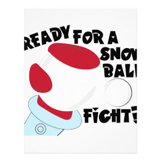 Snow Ball Fight Personalized Letterhead