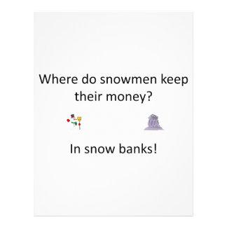 Snow Bank joke Letterhead