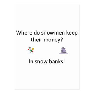 Snow Bank joke Postcard