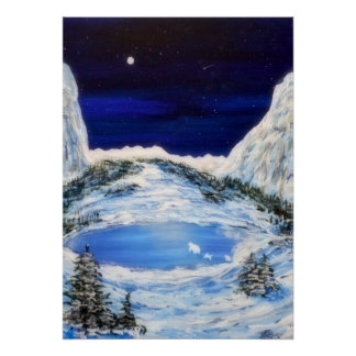 Snow Bears-20x28 Poster