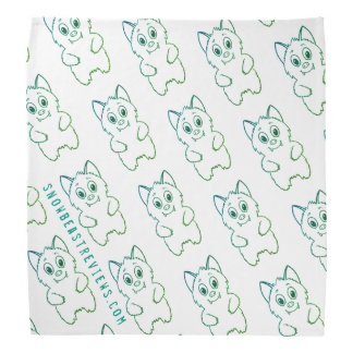 Snow Beast Reviews Bandana-Green/Blue Bandana
