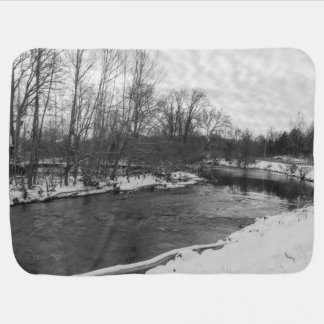 Snow Beauty James River Grayscale Baby Blanket