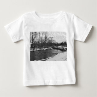 Snow Beauty James River Grayscale Baby T-Shirt
