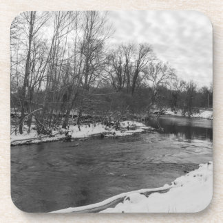 Snow Beauty James River Grayscale Coaster